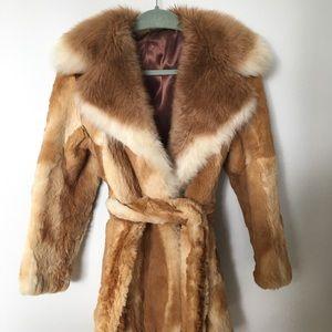 🦋Vintage bunny fur coat 🦋